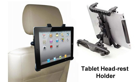 Tablet Head-rest Holder from Chatz Maynard Mall. Keep the kids entertained while you drive. Only R299. Available for 7 to 10.1 inch tablets. Pick-up at Maynard Mall and Sea Point branches. Value R600.