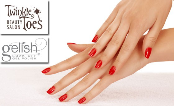 Add some sparkle to your world with Twinkle Toes: Pay R99 and receive Gelish overlays on your hands or feet incl hand or foot peel plus BONUS voucher (value R870)