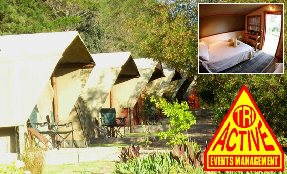 Fun-filled getaway in Elgin Valley at Tri Active Lodge: one night stay for 2 people, including breakfast and bonus. Team-building or group booking option available. Just R399 (value R1000)
