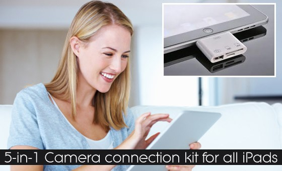 Get connected with Chatz Cellular Maynard Mall and Sea Point: a nifty iPad Connection Kit for only R249. Download photos from your camera to your iPad quickly and easily (value R500)