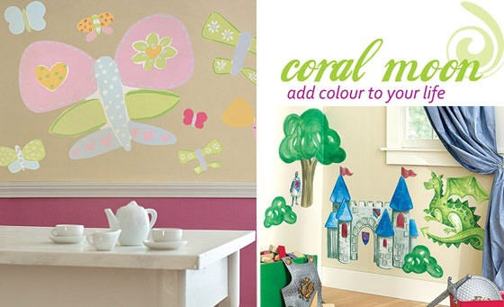 Transform your kiddies room with Coral Moon Trading. Get one Big Kiddies Pre-pasted Mural, including delivery for only R169 (value R410)
