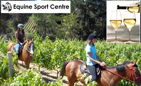 Howdy horse lovers! Time to explore the Cape Winelands on horseback with Equine Sports Centre. R129 gets you a one-hour guided horse riding experience incl wine tasting and bonus (value R375)