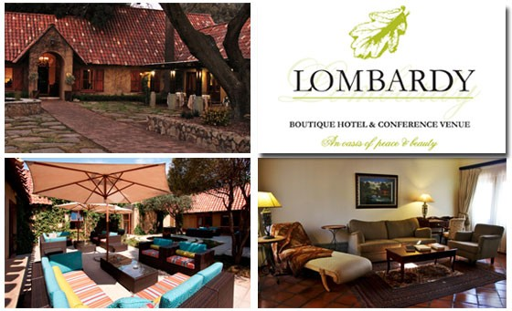 Romantic getaway just outside the city: One night's accommodation for 2 people incl breakfast + BONUS at the luxury Lombardy Boutique Hotel – just R849 (value R2970 - save 71%)