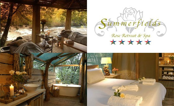 Absolute indulgence and romance at World Spa Finalist – Luxury 5-star Summerfields Retreat and Rose Spa. Save over R5,000 on TWO nights for 2 with extras – only R2499 (value R7630)