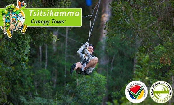 The eco-adventure we had to have! Discover the spectacular Tsitsikamma forest as you zip-line from tree platform to platform. Canopy Tour for 2 inc lunch + more only R499 (value R1100)