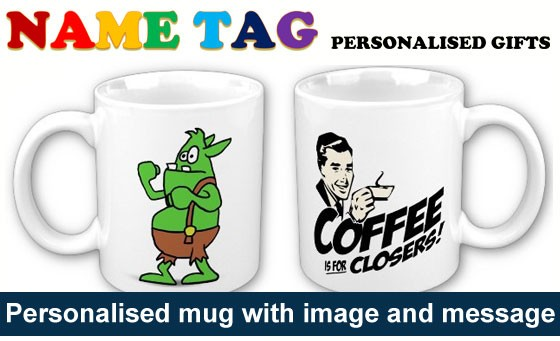 Christmas has come early this year with Name Tag: for only R69 get one personalised mug with image and message of your choice, incl a gift box and gift bag plus bonus (value R190)