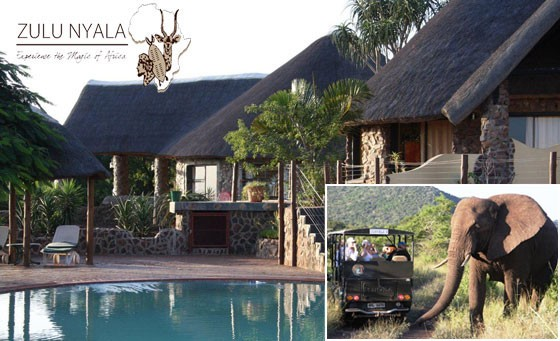 Save 76% off the ultimate bush getaway at Zulu Nyala Game Lodge 3hrs from Durban. Only R899 for a one night stay for 2, incl breakfast AND dinner + game drive bonus (value R3780)