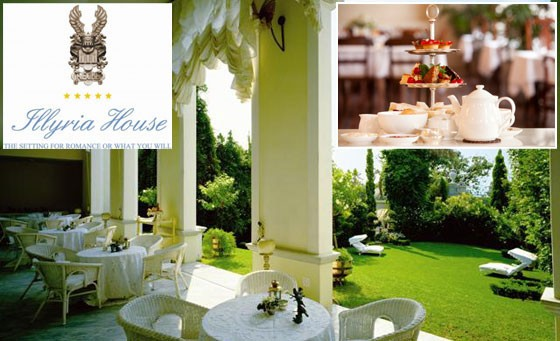 Memorable afternoon at the 5-star Illyria House in Pretoria: indulge in a full afternoon high tea for 2 people, including silver service and unlimited tea and coffee – just R199 (value R600)