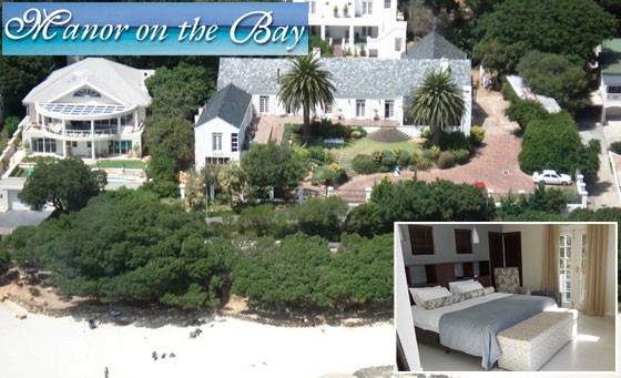 Overnight beach getaway for 2 at Manor on the Bay: for only R699 enjoy a one night stay for 2 in a luxury sea view double room including breakfast and a bottle of wine plus bonus (value R1990)