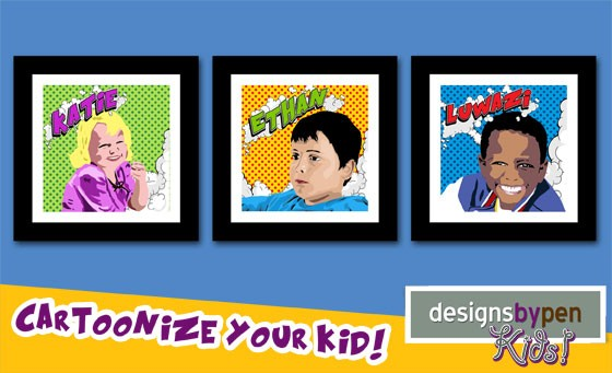 Personalise and spruce up your home with a funky cartoonised image, complete with stunning wooden frame and bonus from Designs by Pen – just R399. Delivery included. Value R1100