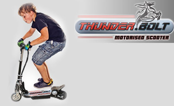 Homemark Thunder Bolt MK! Scooter: for only R899 get this super cool speedster for any boy or girl on the go. Includes nationwide delivery. Great as a gift!
