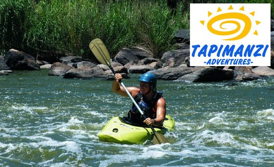 Get wet and wild with Tapimanzi Adventures: a half day river rafting experience AND a paintball experience for one person, incl professional guide and all gear and equipment – just R199 (value R420)