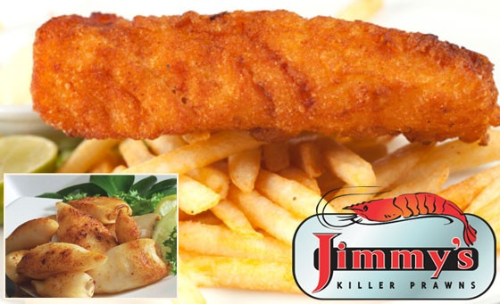 SIX WEEK SPECIAL! A Jimmy Killer Prawns meal for 2 for just R115. Broadway branch ONLY! (value R230)