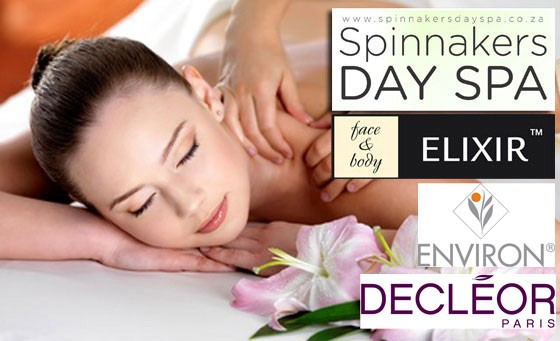 Pampering at Spinnakers, one of SA's Top 10 salons: A back scrub incl a mask plus Hot Oil back, neck & shoulder massage incl a scalp and foot massage plus bonus – just R199 (value R750)