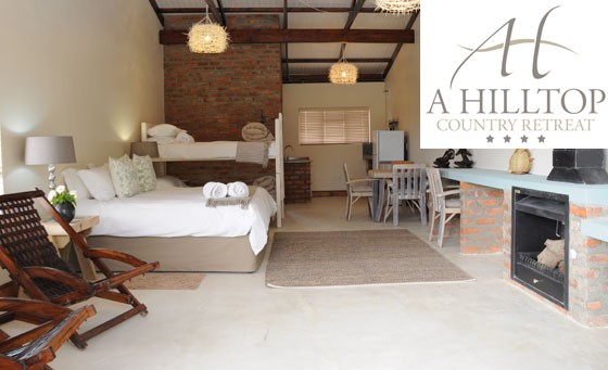 Tranquil getaway in the heart of Swellendam at A Hilltop Country Retreat: TWO night stay for 2 people in a self-catering room, incl free Wi-fi – just R899 (value R1800)