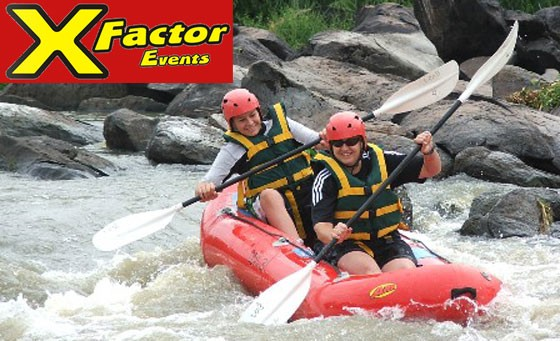 Your GATEWAY to an adventure of a lifetime with X-Factor Events: for only R169 enjoy a 3-hour White River Rafting Adventure for 1 person incl a professional guide and more (value R400)