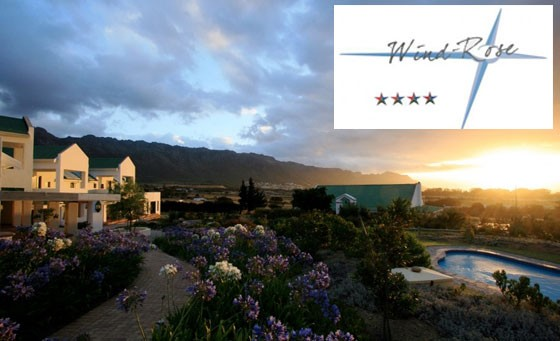 Fabulous, 4-star getaway at the foot of the Hottentots Holland Mountain range: a one night stay for 2 people incl breakfast at Wind-Rose Guest House – just R499 (value R1100)