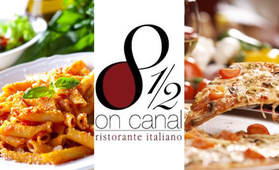 Tantalise your tastebuds at 8½ on Canal at Century City: pay just R99 for ANY 2 pizzas or pastas for 2 people, incl bottle of red or white house wine (value R215)