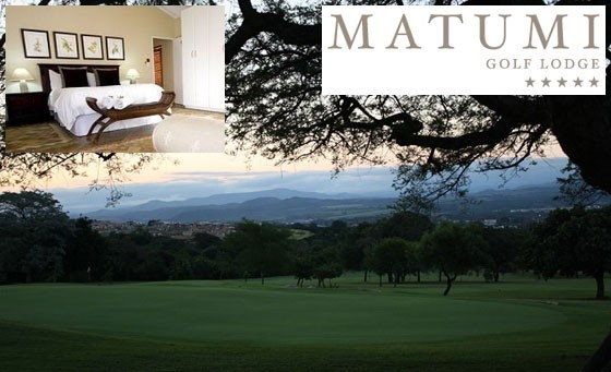 Five-star escape at Matumi Golf Lodge: just R999 for a getaway for 2 people in a luxury room, incl Full English breakfast, wine on arrival, a glass of Sherry in your room and bonus (value R2210)