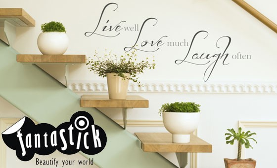 Bring your walls to life using the latest trend in wall décor – as seen on Top Billing. Wide range, stylish and easy to use – and now only R139 for R300 worth of decals at Fantastick