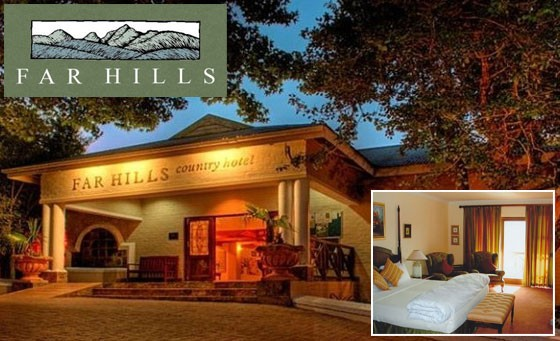 Garden Route getaway for 2 at Far Hills Hotel: just R499 for a TWO night stay for 2 people incl breakfast and welcome drinks on arrival plus bonus (value R1250)