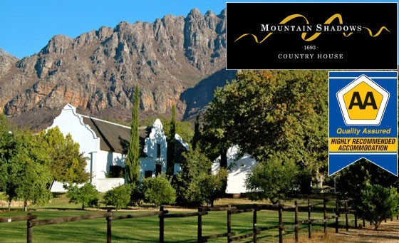 Celebrate life's beauty at the serene Mountain Shadows Country Manor: R499 affords you a peaceful getaway for 2 incl. a full Farmhouse Breakfast + a bottle of wine on arrival (value R1200)