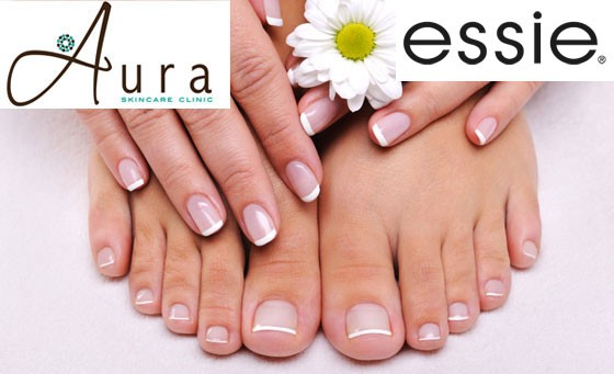 Treat yourself to a rejuvenating pampering session at Aura Skincare Clinic: R99 includes an express manicure, pedicure AND a 15-minute back, neck and shoulder pressure point massage + bonus vouchers (save 80%)