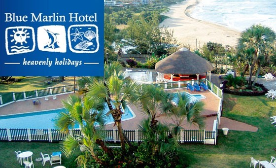 A heavenly getaway calls at the Blue Marlin Hotel: a TWO NIGHT stay for 2 people incl. breakfast and welcome drinks + bonus. MALARIA-FREE vicinity. R799 (value R1700)