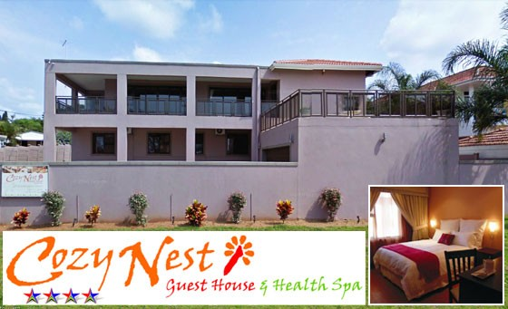 Experience a unique blend of sophistication and simplicity at the 4-star Cozy Nest Guest House & Health Spa: an unforgettable getaway for 2 incl. a full English Breakfast + bonus for R499 (value 1340)