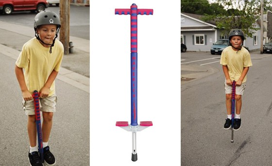 Spoil your bundle of joy or get your kids off the couch with a Fully Assembled Maverick Kiddies Pogo Stick with non-slip handles and foot pads from Line Up for only R199, originally R600