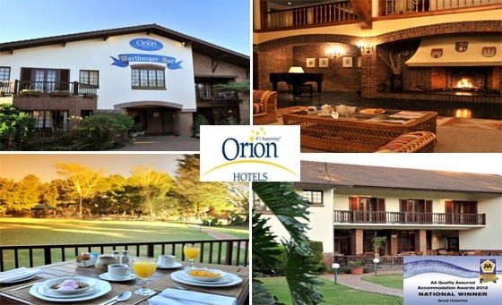 A touch of German, a sprinkle of rustic country warmth: Orion Wartburg Hotel extends its hospitality to you and a partner! Enjoy breakfast and a complimentary room turndown service + BONUS, just R299 (value R1398)
