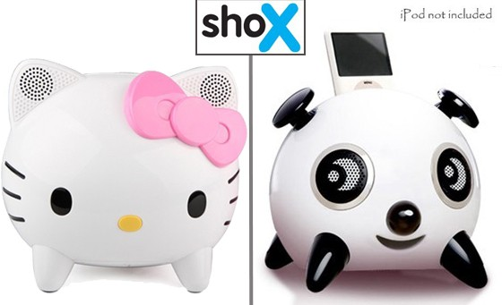 Bring on the music! Choose between the iPanda Speaker OR the Hello Kitty Docking Station INCL FREE NATIONAL DELIVERY for only R499