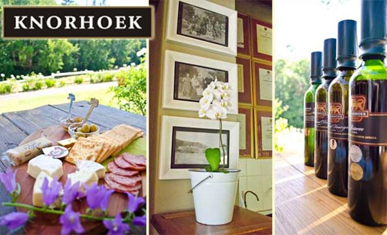 Experience some of the best wines the Cape Winelands has to offer at Knorhoek Wine Estate, situated in the renowned Stellenbosch wine region. Pay R89 for a wine tasting experience for 2, incl cheese platter, sparkling wine on arrival and more