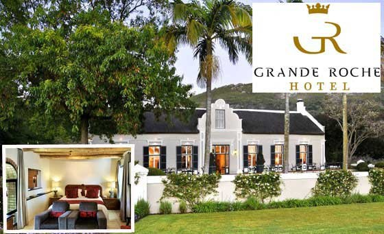 A grand 5-STAR escape for TWO in the Cape Winelands! For only R1700, you and your partner can enjoy a night's stay at the Grande Roche Hotel in Paarl incl breakfast, complimentary bottle of wine and MORE! Just 40mins from CT