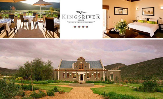 A place to think, a place to dream, a place to meet! The luxurious 4-star Kingsriver Estate in McGregor invites you & a partner to enjoy a TWO-NIGHT stay incl a Full English Breakfast daily & a wine tasting experience, only R999! Roughly 2hrs from CT