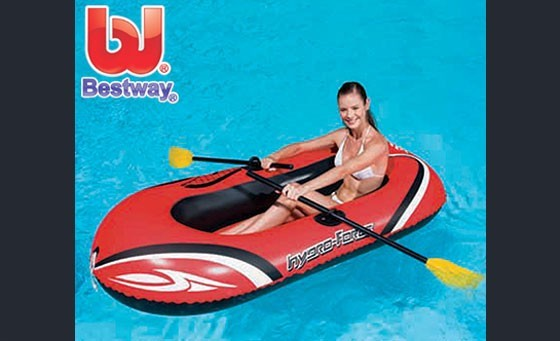 Have some fun in the water with your Huge Bestway Hydro-Force Inflatable Raft Set (196cm x 114cm) Only R199 (originally sold at R229, saving you R30). INCL FREE NATIONAL DELIVERY! Sturdy pre-tested vinyl