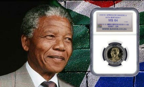 Back by Popular Demand! Own an important piece of South Africa's history! Amazing value growth potential in this official South African Numismatic Grading Service (SANGS) Graded MS66 Nelson Mandela 90th Birthday Commemorative Coin. Only R399!