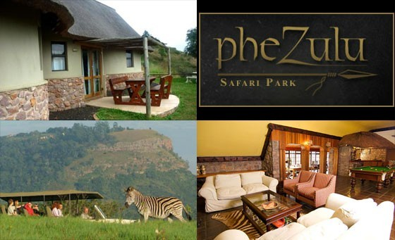 Treat your partner to a unique African experience & enjoy an overnight stay at Phezulu Safari Park Lodge, only R799! INCL 1-HR Game Drive, Crocodile/Snake Park & Zulu Village tour, a bottle of House Wine & more! Just 35 mins from Durban!