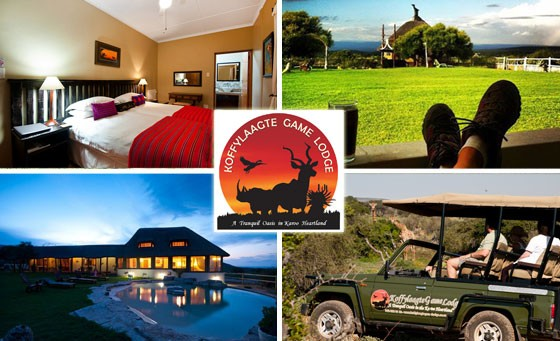 Escape to the 4-star Koffylaagte Game Lodge in the Karoo Heartland with your partner and enjoy a TWO NIGHT stay including ALL MEALS and daily GAME DRIVES - just R2999. Less than 2 hours from PE