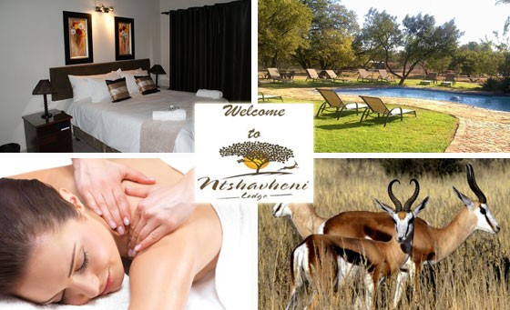 Escape the rat race for just R699 with a stay for two people at Ntshavheni Lodge, just 45 min from Joburg. Includes full English breakfast, 60-min massages each, welcome drinks and more