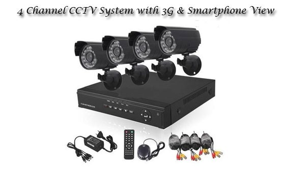 Keep your home, business and family secure 24 hours a day with this advanced 4 Channel CCTV System with 3G & Smartphone View, only R2199! INCL FREE NATIONAL DELIVERY (Valued at more than R4400)