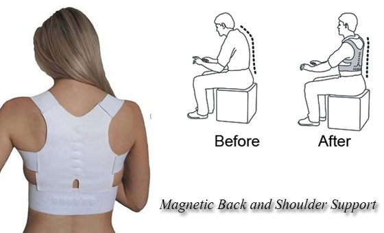 Enjoy better posture with the Magnetic Back and Shoulder Support Unisex Posture One Size – only R169, valued at more than R250. INCL FREE NATIONAL DELIVERY