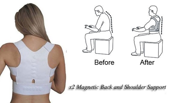 Enjoy better posture with x2 Magnetic Back and Shoulder Support Unisex Posture One Size – only R299, valued at more than R450. INCL FREE NATIONAL DELIVERY