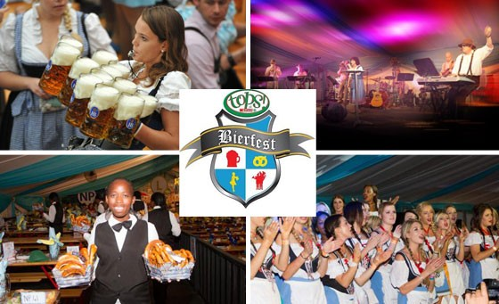 Experience all ze fun und flavour of South Africa's favourite und biggest und funnest, most authentically Bavarian Bierfest for you und five friends! Only R499 including entrance for SIX people, an ice cold 500ml Beer, beer tasting and more!