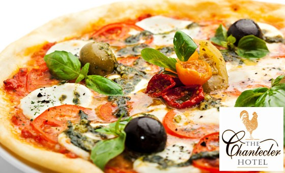 Dine with the Valley of a Thousand Hills as your backdrop! For only R129, you and your partner can enjoy TWO LARGE Oven-baked Pizza's at the rustic, quaint Chantecler Hotel. Make your choice between 4 mouth-watering pizza's