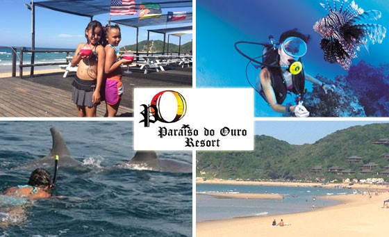 Experience a breakaway in paradise at the Paraiso Do Ouro Resort, situated in Mozambique: Only R999 for TWO NIGHT stay including breakfast in an En-Suite, Sea-facing Suite, located on the Main Beach (value R2200)