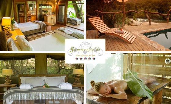 Absolute indulgence & romance at the 5-Star Summerfields Retreat