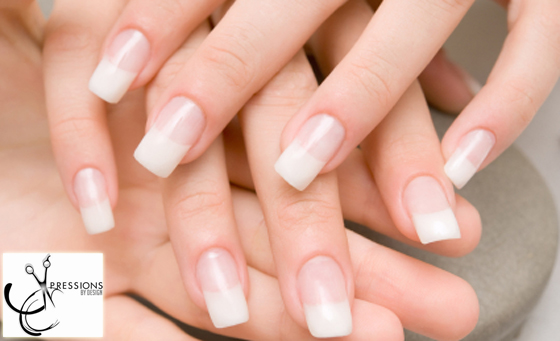 A full set of Gel or Acrylic nail tips, colour OR French + more