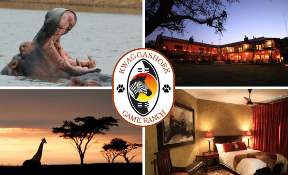 TWO NIGHT stay for two at Kwaggashoek Game Ranch