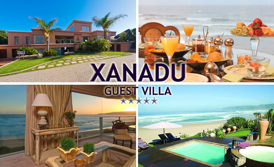 TWO NIGHTS incl. Breakfast at the 5-STAR Xanadu Guest Villa, only R1499!